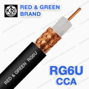 RG6U cca half copper sri lanka red and green brand coaxial cable 75 ohm
